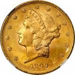 1899 Liberty Head Double Eagle. MS-65+ (NGC).
