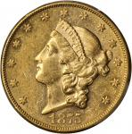 1875-CC Liberty Head Double Eagle. AU-58 (PCGS).
