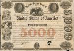 1846年美国5000元债券 极美