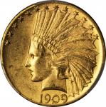 1909-S Indian Eagle. MS-63 (PCGS).