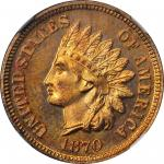 1870 Indian Cent. Proof-66+ * RB (NGC). CAC.