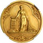 AUSTRALIA. Melbourne Victoria Jubilee Exhibition Medal Struck in Gold, 1885. NGC PROOF-62.