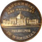 1876 U.S. Centennial Exposition. Exposition Building Dollar—Art Gallery. Silver. 43 mm. HK-83a. Rari