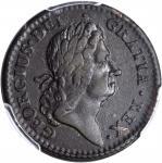 1723 Rosa Americana Penny. Martin 2.37-Eb.13, W-1278. Rarity-6. EF-40 (PCGS).