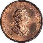 GREAT BRITAIN. 1/2 Penny, 1799. George III (1760-1820). NGC MS-64 RB.