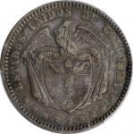 COLOMBIA. Peso, 1867. Bogota Mint. PCGS AU-53 Gold Shield.