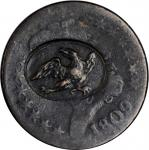 (EAGLE) in an oval box punch on an 1809 Classic Head half cent. Brunk ETC-15, Rulau-Unlisted. Host c
