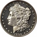 1896 Morgan Silver Dollar. Proof-63+ Cameo (PCGS). CAC.