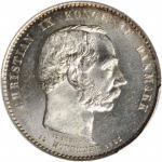 1888-CS年丹麦2 克朗。克里斯蒂安九世。 DENMARK. 2 Kroner, 1888-CS. Christian IX. PCGS MS-64.