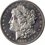 1886 Morgan Silver Dollar. Proof-64 (PCGS).