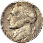 Undated Jefferson Nickel--Struck on a Copper-Nickel Clad Dime Planchet--AU-50 (PCGS).