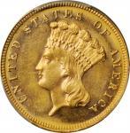 1882 Three-Dollar Gold Piece. MS-64 (PCGS).