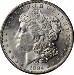 1884-S Morgan Silver Dollar. AU-58 (PCGS).