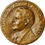 1929 Herbert Hoover Inaugural Medal. Bronze. 69.5 mm. By Henry Kirke Bush-Brown. Dusterberg OIM-7B70