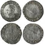 Elizabeth I (1558-1603), Shillings (2), sixth issue, 6.04g, m.m. key, elizab d g ang fr et hib regi,