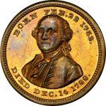 1850s General of the American Armies medalet. Musante GW-748, Baker-76C. Brass. MS-65 (PCGS).