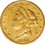 1865-S Liberty Head Double Eagle. EF-45 (PCGS).