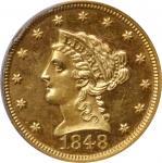 1848年自由帽1/4鹰金币 PCGS Proof 64