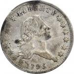 1795 Flowing Hair Half Dollar. O-131, T-9. Rarity-4+. Two Leaves. Fine-15 (PCGS).