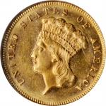 1871 Three-Dollar Gold Piece. MS-62 (NGC).