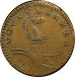 1786 New Jersey copper. Maris 20-N. Rarity-4. Wide Shield. EF Detail, Tooled (PCGS).
