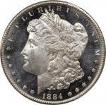 1884-CC Morgan Silver Dollar. MS-64+ DMPL (PCGS). CAC.