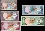 Central Bank of Kuwait, a complete group of the 1980-86 Third Issues specimen, including 1/4, 1/2, 1