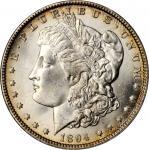1894-O Morgan Silver Dollar. MS-64 (NGC).