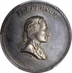 Undated (ca. 1872) Jefferson / Equal and Exact Justice for All Men medal. By J.A. Bolen. Silver. Thi