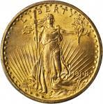 1908圣高登双鹰金币 PCGS MS 65