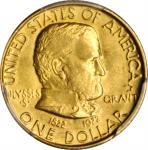 1922 Grant Memorial Gold Dollar. Star. MS-62 (PCGS).