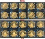 1986年熊猫纪念金币1盎司共10枚 完未流通