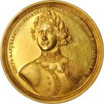 RUSSIA. Capture of Azov Medal Struck in Gold by S. Yudin, 1696. Peter I (The Great) (1689-1725). PCG