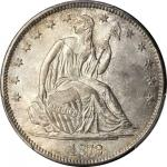 1872-S Liberty Seated Half Dollar. WB-2. Rarity-3+. Small Wide S. MS-66+ (PCGS). CAC.