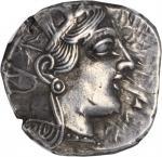 ATTICA. Athens. AR Tetradrachm (17.18 gms), ca. 440-404 B.C. NGC Ch EF, Strike: 4/5 Surface: 3/5. Ed