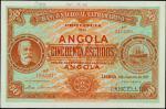 ANGOLA. El Banco Nacional Ultramarino. 50 Escudos, 1921. P-60s. Specimen. PCGSBG Choice Uncirculated