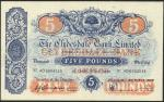 Clydesdale Bank Limited, £5, 3 March 1948, serial number AD 0004548, blue and red with blue underpri
