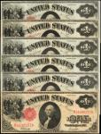 Lot of (6) Fr. 37. 1917 $1 Legal Tender Notes. Fine to Very Fine.