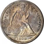 1859-S Liberty Seated Silver Dollar. MS-63+ (PCGS).