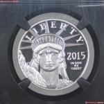 2015美国自由女神100美元纪念币 NGC PF 70