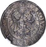 GERMANY. Stolberg-Konigstein-Rochefort. Taler, (15)47. Augsburg Mint. Ludwig II (1535-74). NGC AU-58