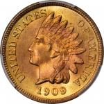 1909 Indian Cent. MS-67+ RD (PCGS). CAC.