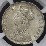 INDIA British India イギリス领インド Rupee 1889C NGC-AU58 EF+