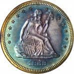 1868 Liberty Seated Quarter. Proof-65 (ANACS). OH.