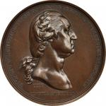 1776 (ca. 1860) Washington Before Boston Medal. U.S. Mint Gunmetal Dies. Bronzed Copper. Julian MI-1