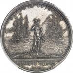 USA Amérique-Canada (colonies françaises), Louis XV (1715-1774). Médaille, Combat du 8 juin 1755 et