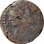 1788 Connecticut Copper. Miller 7-K, W-4490. Rarity-7. Mailed Bust Left. Very Good, Environmental Da
