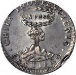 CHILE. Peso, 1818-SoFD. NGC AU-55.