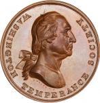 Circa 1847 Washington Temperance Society / Mechanics Literary Association medal. Musante GW-173, Bak