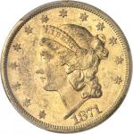USA République fédérale des États-Unis d'Amérique (1776-à nos jours). 20 dollars Liberty 1871, S, Sa